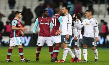 Manchester United defeats 10-man West Ham United 2-0 to register 6th successive victory