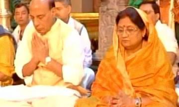 Rajnath Singh offers prayers at Tirumala temple on a 14-hour spiritual visit to Tirupati