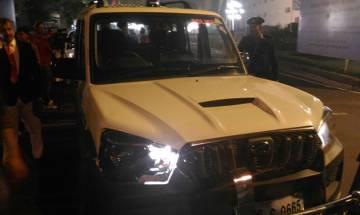 FM Arun Jaitley's pilot car collides with WagonR outside Vigyan Bhavan in New Delhi