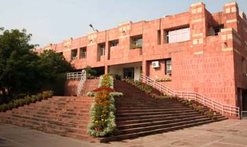 Left oriented students in JNU protest against ABVP-organised Kashmir event