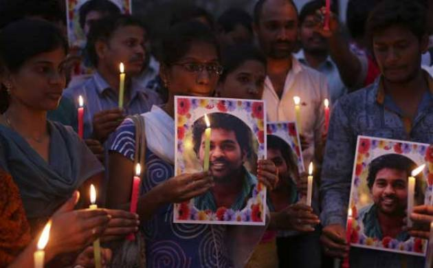 Protests after Rohith Vemula suicide case - File photo