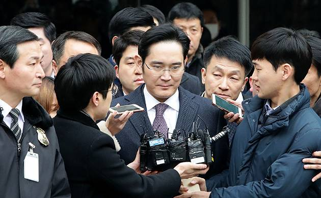 Samsung Electronics vice chairman Lee Jae-yong arrives at court (Getty Image)