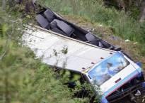 Four people killed over dozen injured as bus turns turtle