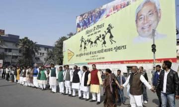Bihar joins hands against liquor forming world's longest human chain
