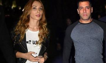 Iulia Vantur dances to superstar Salman Khan's hit song at event