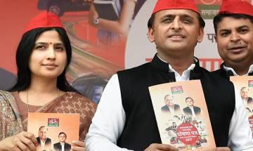 UP Polls: Akhilesh releases SP manifesto; Mulayam, Shivpal give a miss