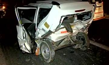 Delhi: Speeding BMW car crashes into cab in Munirka, one dead