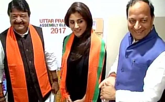 Actress Rimi Sen joins BJP (Pic: ANI)