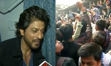 Video | Shah Rukh Khan on train to promote 'Raees': Superstar reaches Delhi, massive crowd gathers at railway station