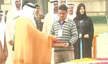 Abu Dhabi Crown Prince Nahyan pays tribute to Mahatma Gandhi at Rajghat