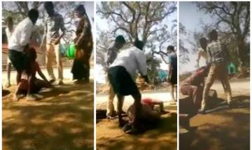 Video: Case filed against village sarpanch for beating women in Andhra Pradesh's Kuderu Police Station
