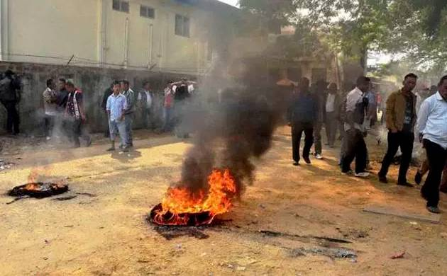 Nagaland protests (Pic: PTI)