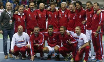 Davis Cup: Serbia storm into last eight