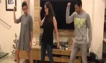 Watch: Varun Dhawan, Alia Bhatt learn 'Tamma Tamma' moves from Madhuri Dixit