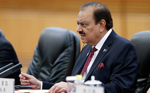 A file photo of Pakistan's President Mamnoon Hussain.