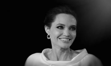 Angelina Jolie makes first public appearance after split with Brad Pitt to promote her film