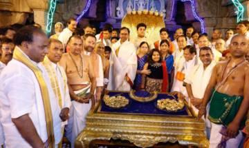 Telangana CM KC Rao donates gold ornaments worth 5 crore to Lord Venkateswara