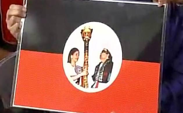 Jayalalithaa's niece Deepa Jayakumar launches 'MGR Amma Deepa Peravai' (Pic: ANI)