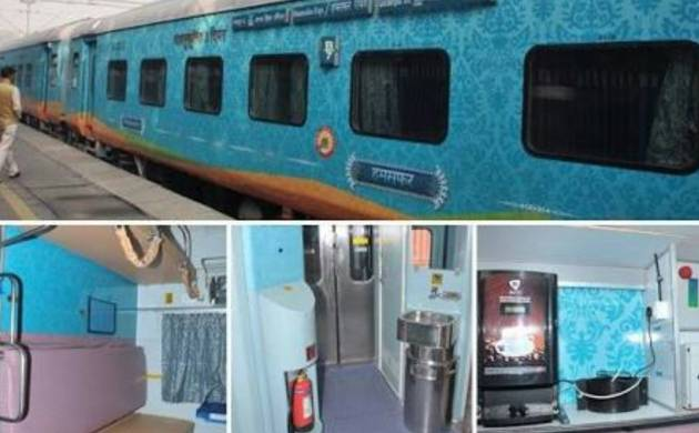 Amenities in Humsafar express (Image tweeted by Suresh Prabhu)