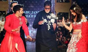 Watch: Amitabh Bachchan grooves with Badri Varun Dhawan and his dulhania Alia Bhatt