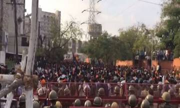 Video |  Rajput Karni Sena vandalises BJP office seeking quota for community