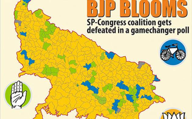 BJP blooms in Assembly elections 2017 (PTI Graphic)