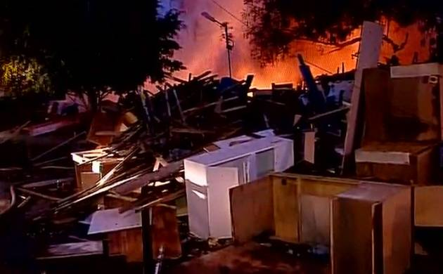 Fire breaks out at furniture market in Delhi