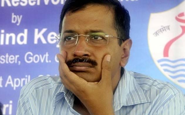 Delhi Chief Minister Arvind Kejriwal addresses media