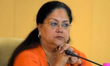 Rajasthan CM Vasundhara Raje met with a 'criminal' at official residence?