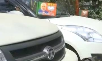 From 'Cycle' to 'Lotus': UP streets flooded with vehicles flaunting BJP flags after Yogi Adityanath takes over as CM | Video