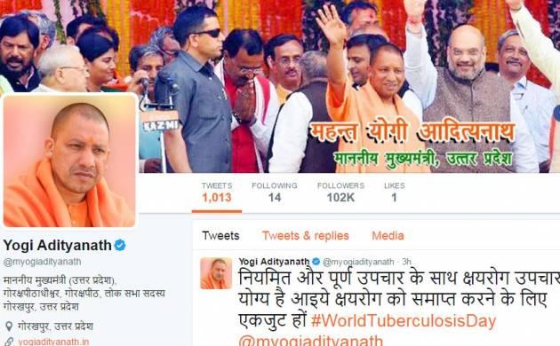 UP CM Yogi Adityanath's old Twitter handle suspended, he's available on new handle @myogiadityanath (Screegrab)