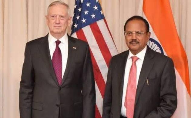 Ajit Doval and James Mattis (File photo)