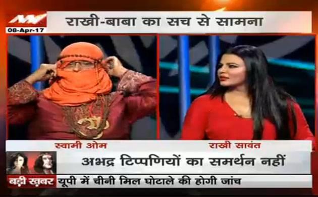 Rakhi Sawant vs Swami Om Live at News Nation