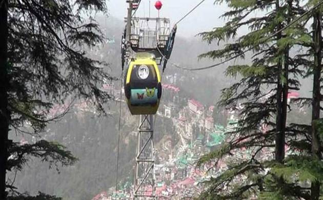 From Ridge to Jakhu in 5 minutes on Shimla's first ropeway (Pic: ANI)