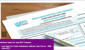 IGNOU Admission for July 2017: Last date for fresh admission to this session is June 30