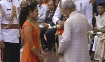 President Pranab Mukherjee confers Padma awards to Dipa Karmakar, Sanjeev Kapoor and others