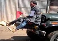 J-K: Army investigates video of Kashmiri youth tied to army jeep against stone pelting