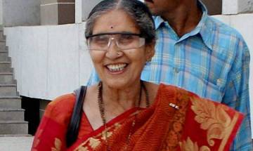 PM Modi's wife Jashodaben offers prayer at temple in Hyderabad's Charminar area
