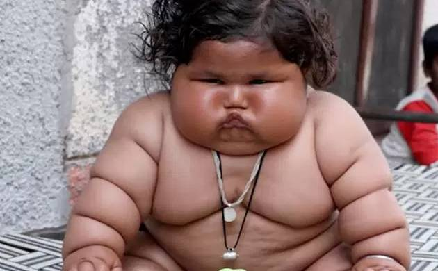 Eight-month-old Chahat Kumar from punjab weights over 17 kgs