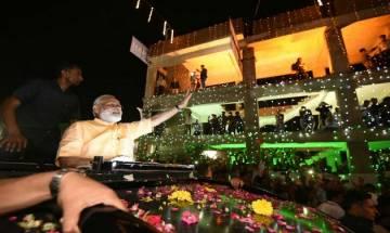 PM Modi's roadshow in Surat: BJP's Mission Gujarat begins with massive show of strength in Diamond City