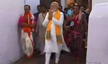 PM Modi visits Lingaraj Temple in Bhubaneswar, conducts special puja with bel, flowers and milk