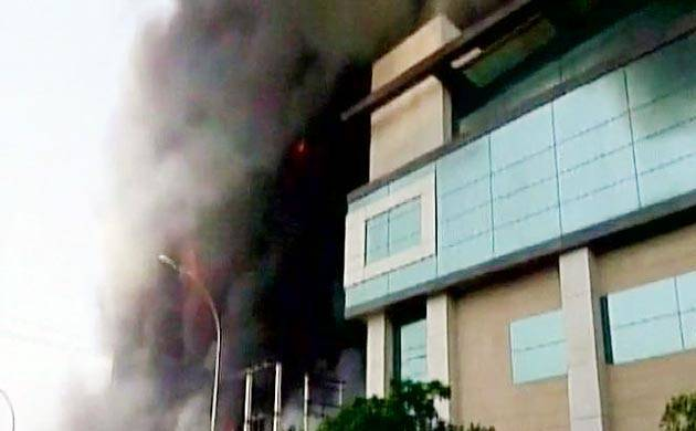 Noida factory fire (Pic: ANI)