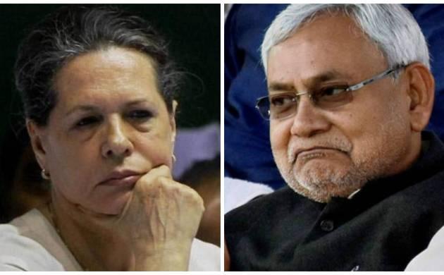 Nitish Kumar meets Sonia Gandhi at her residence