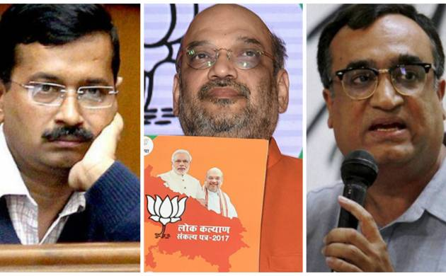 MCD elections 2017: Delhi's 1.3cr people set to vote in triangular contest; litmus test for Kejriwal's AAP, Amit Shah's BJP, Congress (File Photos: PTI)