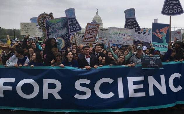 A march for science at Washington DC (Source: March for Science)