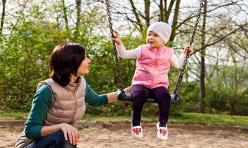 Playing on swings may help children learn how to get along with each other