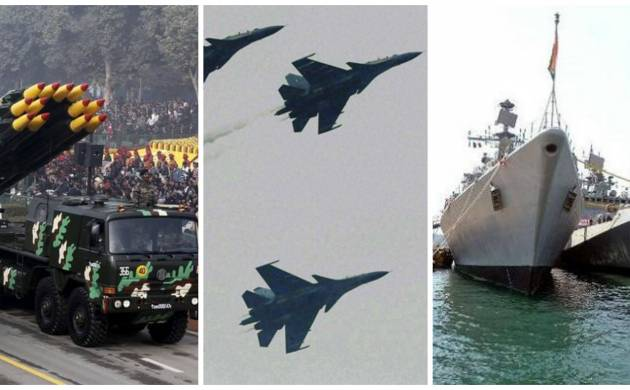 Joint doctrine for deeper synergies among army, navy and air force unveiled to deal with proxy war in Kashmir, Left-wing extremism (File Photos)