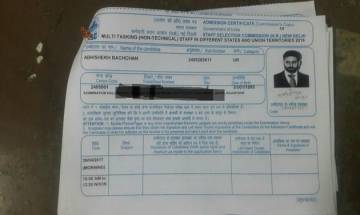 Abhishek Bachchan submits application to appear for SSC MTS examination?