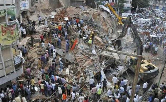 Bharatpur wall collapse (Pic: PTI)