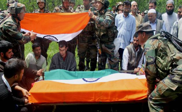Ummer Fayaz being laid to rest (Pic: PTI)